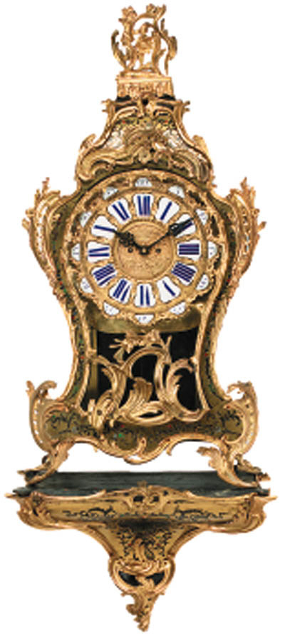 A Louis XV style inlaid brass