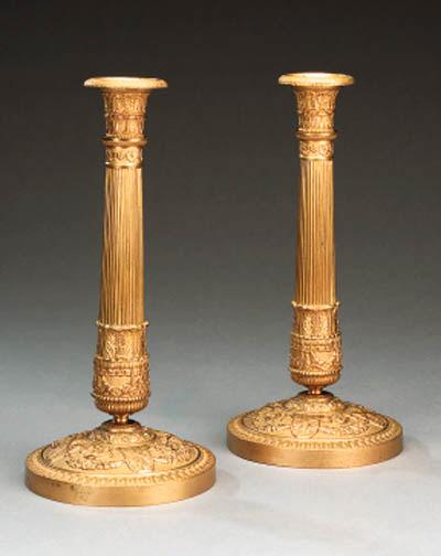 A pair of Restauration gilt br