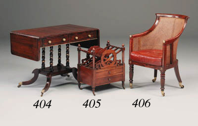 A Regency rosewood and brass e