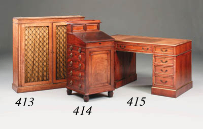 A rosewood-veneered and brass-
