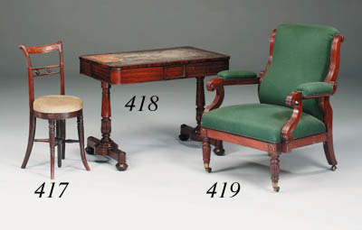 A William IV rosewood writing