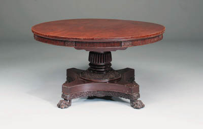A William IV carved mahogany b