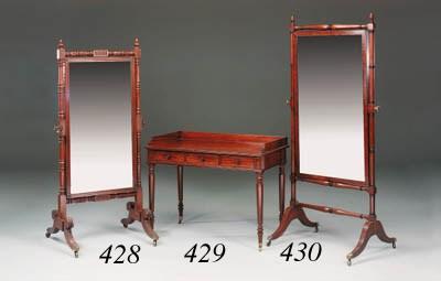 A Regency mahogany and ebony-m