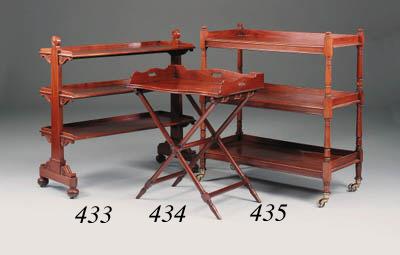 A William IV mahogany triple t