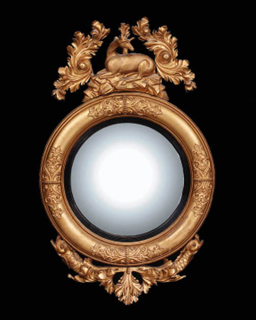 A carved giltwood and gesso co