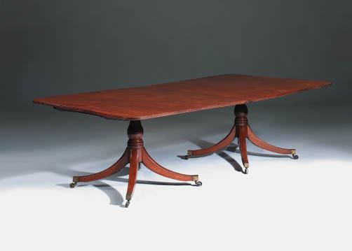 a mahogany twin pedestal dinin