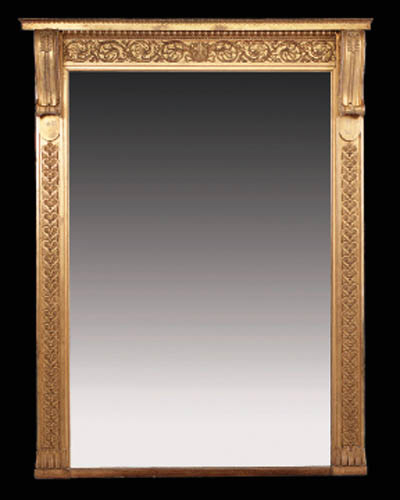 A carved giltwood and gesso ov