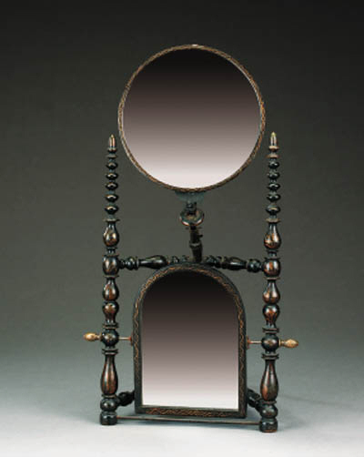 A French wig mirror, late 19th