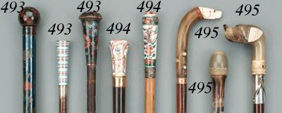 Three walking sticks, late 19t