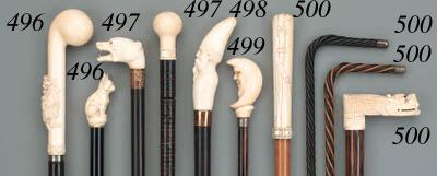 Four walking sticks