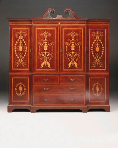 An Edwardian mahogany, satinwo