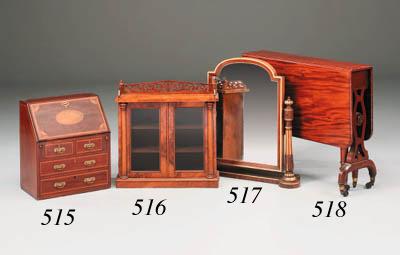A Victorian walnut miniature c