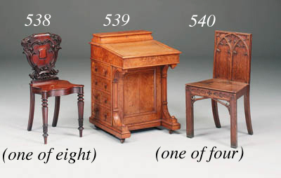 A set of four Victorian carved