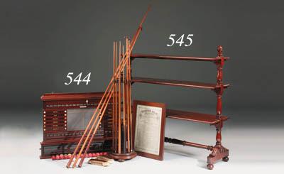 A early Victorian mahogany tri