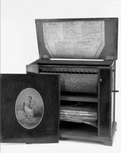 A table barrel organ