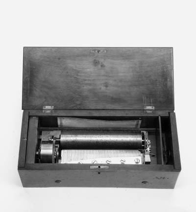 A key-wind musical box,