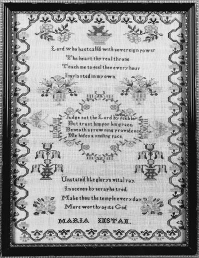 A sampler by Maria Instan, wor