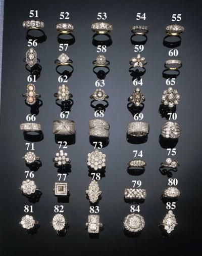 A baguette diamond dress ring,