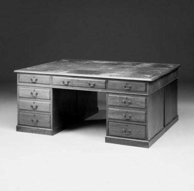 A mahogany partners desk, earl