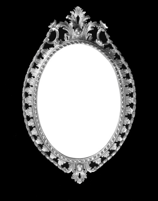 An oval giltwood wall mirror, 19th Century