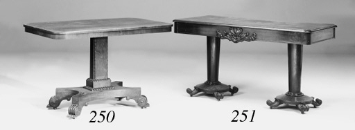 A George IV rosewood centre table
