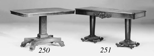 A mahogany library table, mid 19th century