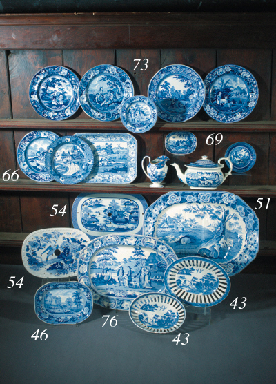 An Edward & George Phillips blue and white plate