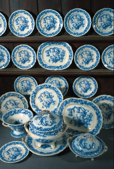 A Ridgway's blue and white part dinner service