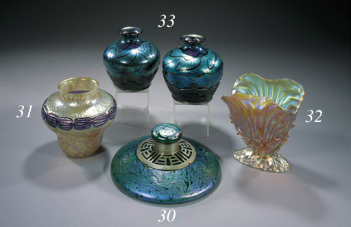 A GLASS INKWELL