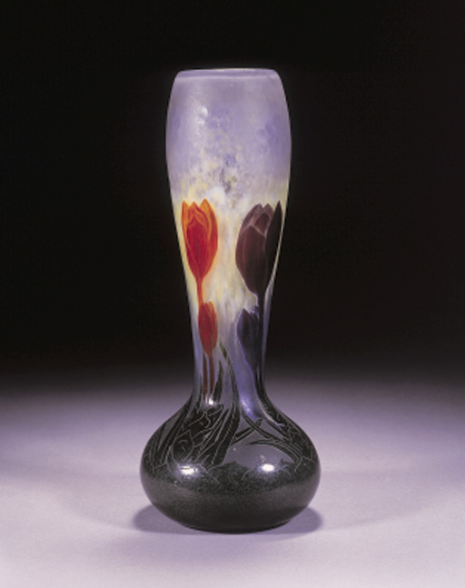 A CAMEO GLASS 'CROCUS VASE'
