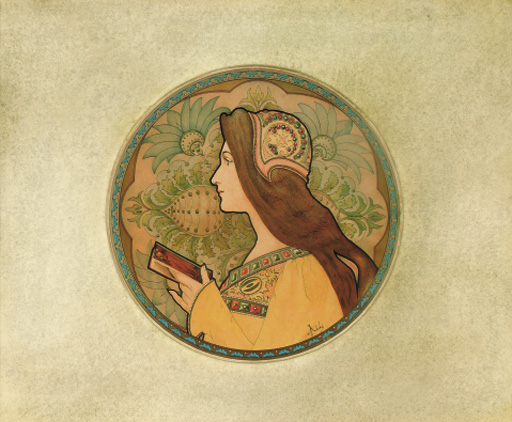 DECORATIVE PANEL (LADY READING)