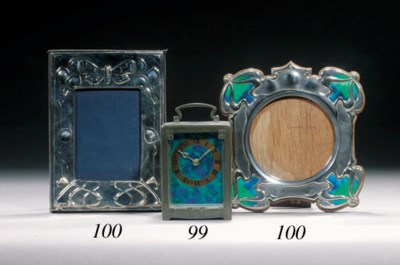 A SILVER AND ENAMEL PICTURE FR