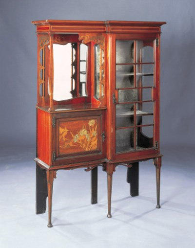 A INLAID DISPLAY CABINET