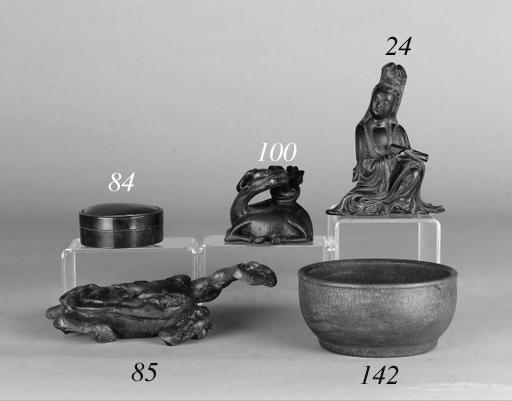 A Chinese black soapstone mode