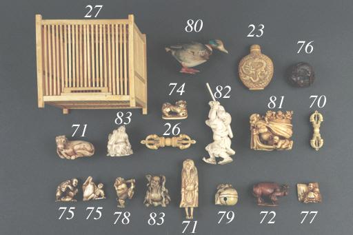 A Tibetan ivory vajra