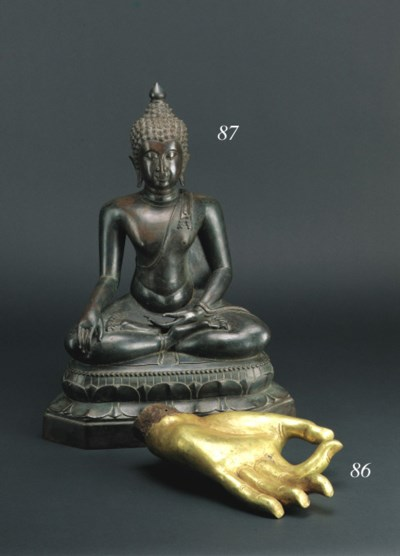 A large Thai bronze figure of