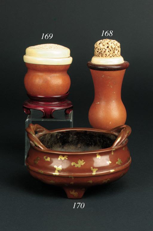 A Chinese bronze gold splash t