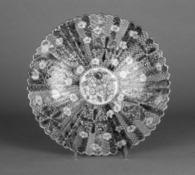An Imari fluted flaring bowl