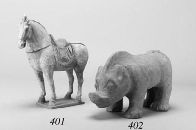 A Han pottery model of a pig