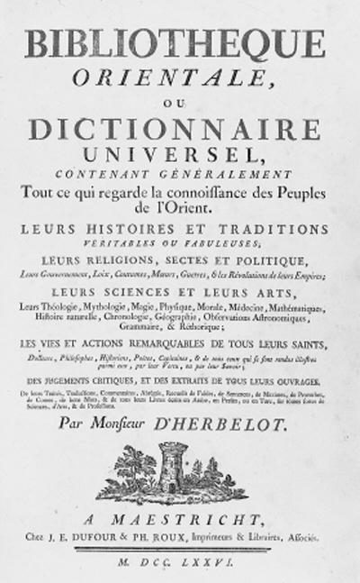 HERBELOT, Barthélemy d'. Bibli