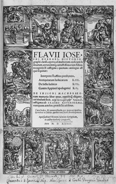JOSEPHUS, Flavius.  Opera, [n.