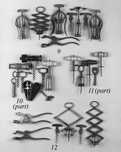 A collection of corkscrews: