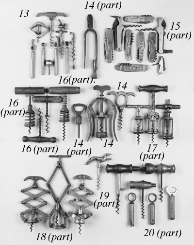 Ten German corkscrews: