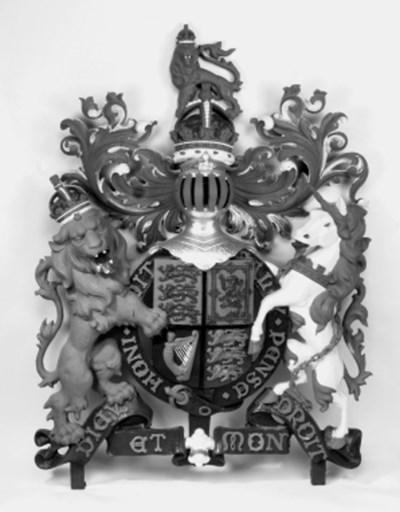 A Scottish cast iron Royal Coa