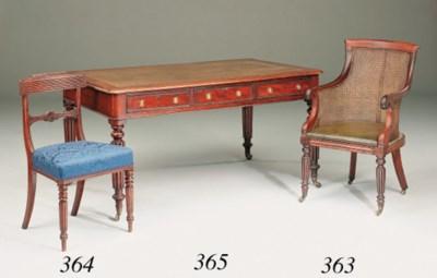A set of seven Regency mahogan
