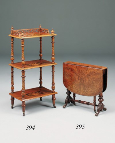 A late Victorian walnut, burr-