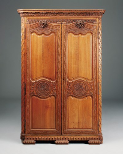 A French oak armoire, late 19t