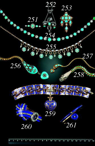 A diamond and turquoise neckla
