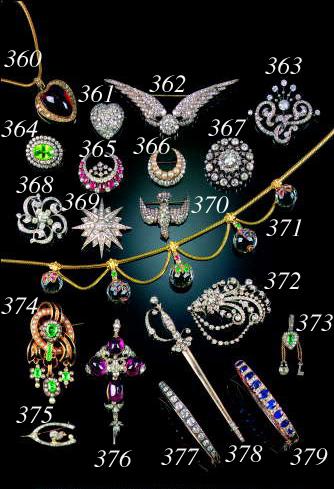 A 19th Century diamond wings brooch,