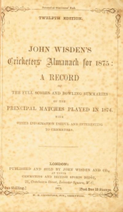 John Wisden's Cricketers' Alma
